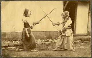 Japanese art of fencing. Drill with long sabres. 1868 | by National Museum of Denmark