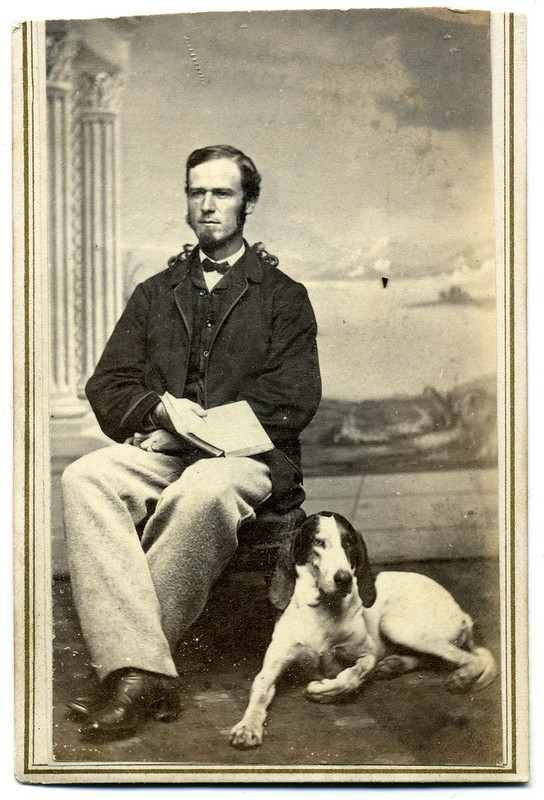A Literary-Minded Gent and His Dog
