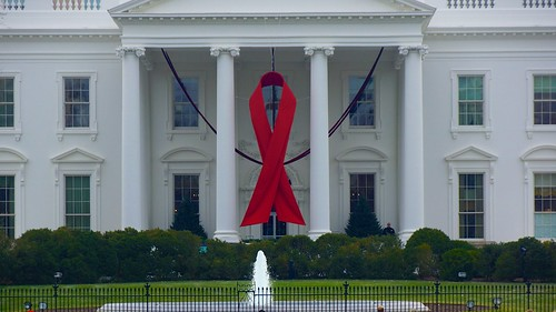 World AIDS Day - Red Ribbon on the White House Portico 33920 | by tedeytan