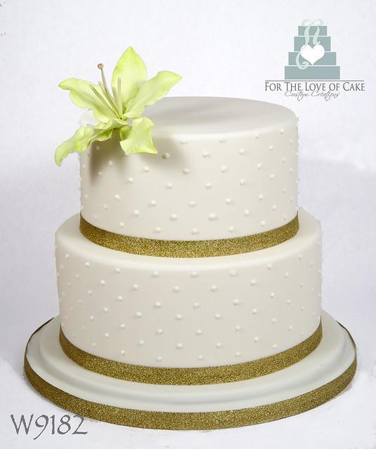 W9182-ivory-2-tier-wedding-cake-toronto