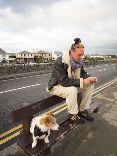 street ireland people dog seascape galway animals clouds sunrise bay mutt jimmy atmosphere places countygalway naturalelements photosubject