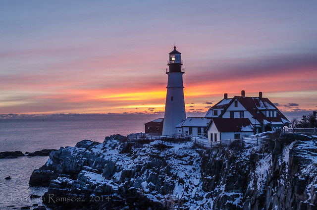 Portland Head Light, Dawn