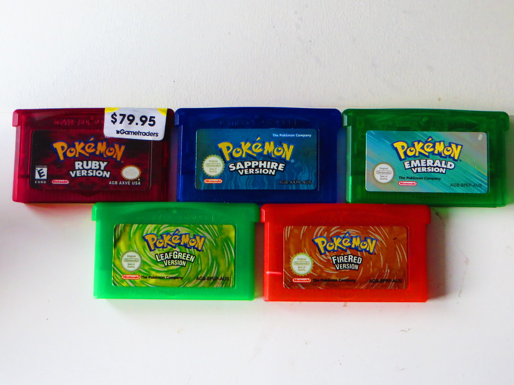 All five Pokemon GBA Games   I finally bought them after all