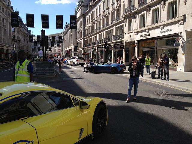 Gumball Rally London Regent Street 2014