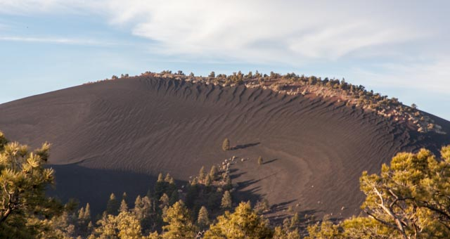 Massive cinder cone at Sunset Crater
