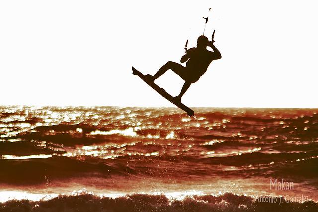 kitesurf ,contraste