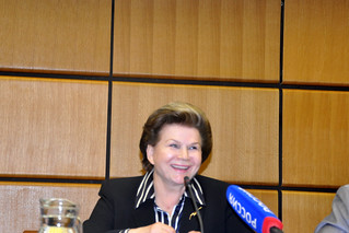 Press Briefing with Valentina Tereshkova, on the occasion of the Celebration of 50 years of women in space by UNOOSA  on 13 June 2013