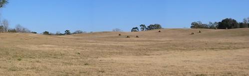 blue sky panorama hills ag hay