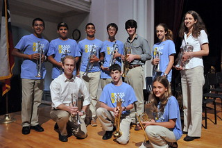 Cornet/Trumpet Section.  BOB Camp 2012
