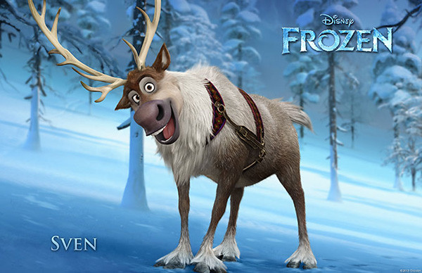 Sven from The New Disney Move Frozen
