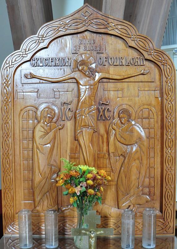 Crucifixion Wood Panel