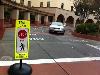 Stop for pedestrians | by SmartSignBrooklyn