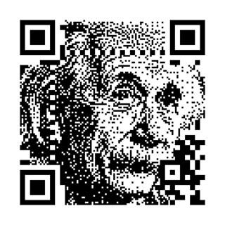 HalftoneQR - Einstein