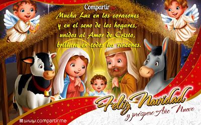 Tarjetas de navidad con mensajes cristianos