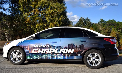 Police chaplain car wrap graphics for Orlando Police Department