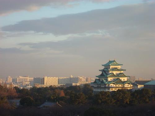 city castle japan skyline sunrise nagoya 日本 aichi 城 名古屋 愛知県 名古屋城