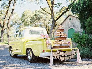 Pie Pop and Cotton Candy Display on a Vintage Truck at Annadel Estate Winery | by Sweet Lauren Cakes