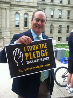 State Representative Anthony Forlini Takes the Pledge | by League of Michigan Bicyclists