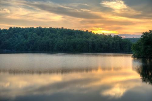 sunset water reservoir