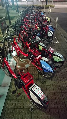 出番を待つ自転車たち