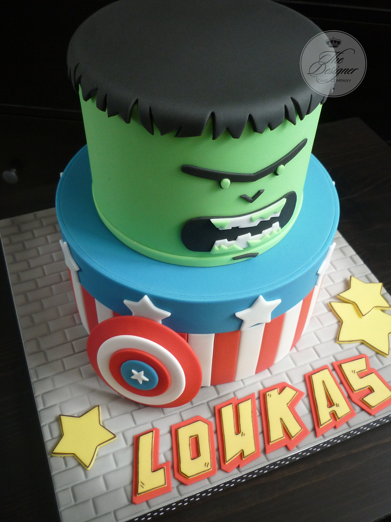 Outstanding Avengers Birthday Cake Ive Seen This Design All Over The Flickr Personalised Birthday Cards Xaembasilily Jamesorg