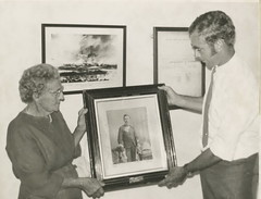 Presentation of photograph of M. C. Thomas Tuohy, 1972.