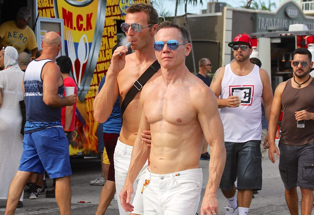 Happy Shirtless Sunday HSS! Guys at Stonewall Festival