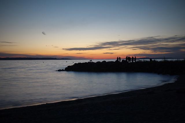 Sunset on the beach, Washington state