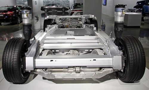 2015 Tesla Model S P85D Chassis - Petersen Museum (7777)   by Ron of the Desert