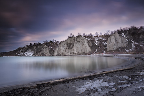 scarborough bluffs scarboroughbluffs toronto longexposure leefilters canon 6d 1635f4l landscape water lake lakeontario ontario canada sky winter cold cliffs