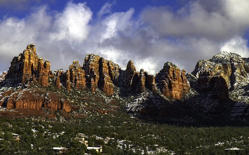 sedona arizona redrock snow peaks landscape outdoors mountains trees platinumheartaward