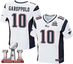 Nike Patriots #10 Jimmy Garoppolo White Super Bowl LI 51 Men's Stitched NFL Elite Jersey
