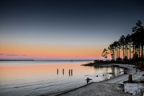 ocean autumn sunset fall beach river neck bay virginia chesapeake ware wanderrlust hughderr