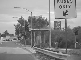 Bus Stop on San Bernardino Freeway (Interstate 10)