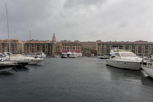 Vieux Port de Marseille sous la pluie | by Bernard Ddd