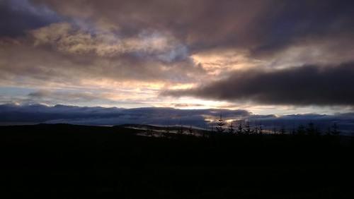 ireland mist sunrise donegal