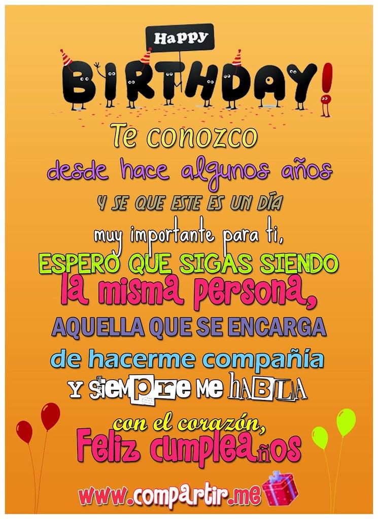 Frases De Amor Tarjeta De Feliz Cumpleaños Para Dedicar A