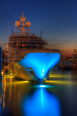 Yacht in Newport at Night - Mike Dooley