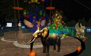 fireshow elephant 01