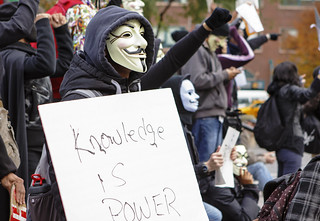 Anonymous Million Mask March on Election day in New York | Knowledge is Power | by MichaelTapp