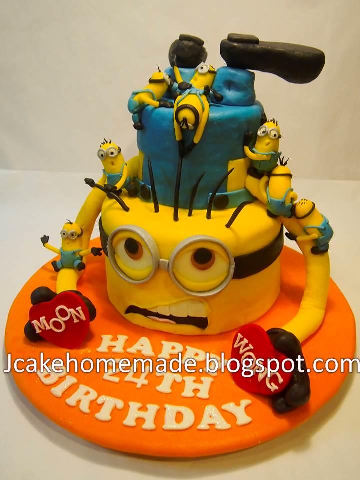 Fine Minions Birthday Cake Happy 24Th Birthday Moon Wong Thank Flickr Funny Birthday Cards Online Kookostrdamsfinfo