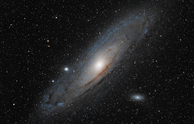 M31, the Andromeda Galaxy, and M32 and M110 on January 19th, 2014