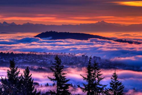 fog vancouver sunrise north inversion toufiq toufiqul