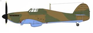 Hawker Hurricane Mk I, mid-1940, Rotol prop, B-pattern camo, Azure-like blue v.18