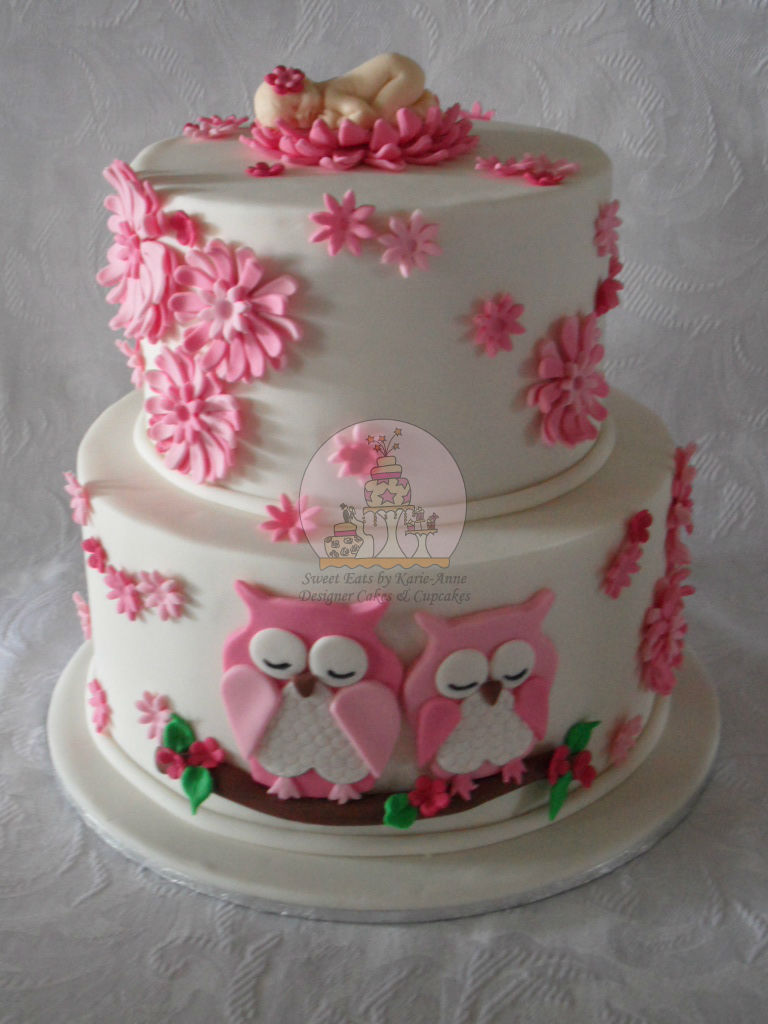 Baby Shower Owl Themed Cake Copy Special Cake For A New Flickr