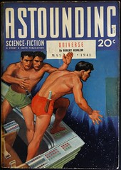 Astounding Science Fiction (May, 1941).  Cover Art by Hubert Rogers