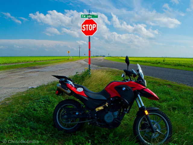 Highway to Hell (now FM 666) - Cruising around South Texas on the BMW G650 GS (2012)