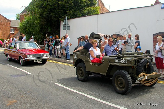 A US Army jeep in the village parade