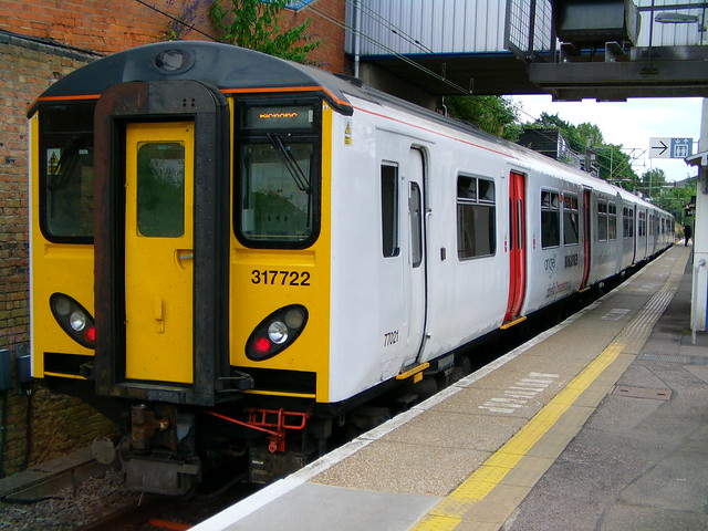 Exclusive: 317722 (Abellio Greater Anglia demonstrator) in service at Bishops Stortford 24/06/14