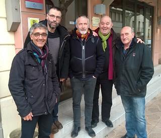 Avec Laurent Sausset, Vincent Roca, Gérard Morel, Patrick London   by lilianderruau